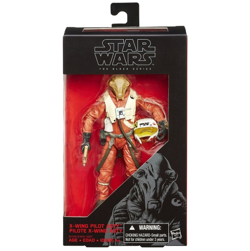 Star Wars The Force Awakens 6 Inch Action Figure The Black Series Wave 4 - X-Wing Pilot Asty