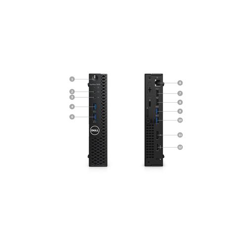 DELL OPTIPLEX 3050 MICRO i5 7500T 3.3 GHZ 8GB 256 SSD BT 4.2 WIN 10 PRO 3YR - MFG Refurbished