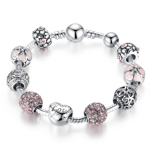 Fit Personalized European Charm Bracelet & Necklace 925 Sterling Silver Original Cut Swing Baby Beads Fashion Jewelry For Gifts Jewelry & Accessories
