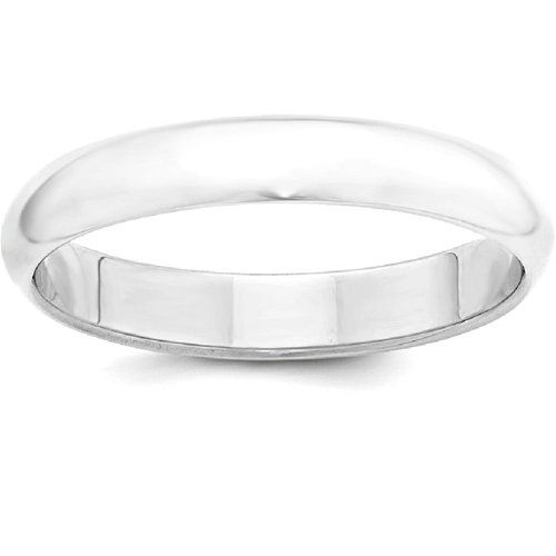 IceCarats 925 Sterling Silver 4mm Half Round Wedding Ring Band Size 7.50 Classic Domed
