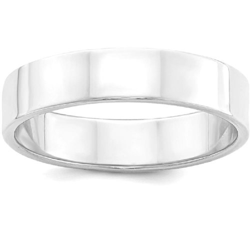 IceCarats 925 Sterling Silver 5mm Flat Wedding Ring Band Size 6.50 Classic