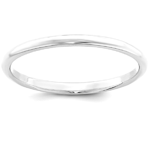 IceCarats 925 Sterling Silver 2mm Half Round Wedding Ring Band Size 7.50 Classic Domed