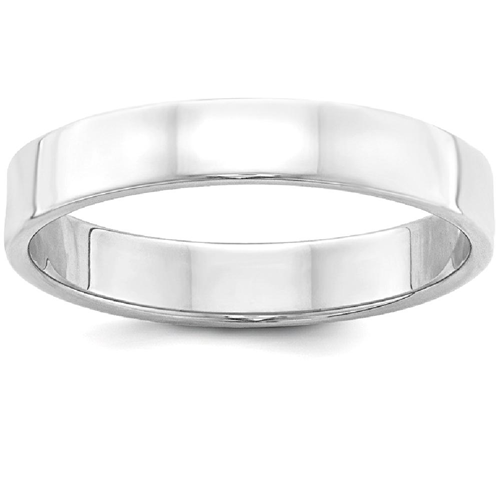 IceCarats 925 Sterling Silver 4mm Flat Wedding Ring Band Size 10.50 Classic