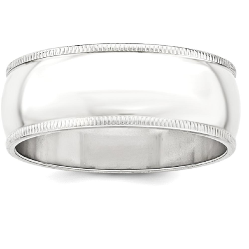 IceCarats 925 Sterling Silver 9mm Half Round Milgrain Wedding Ring Band Size 5.00 Classic
