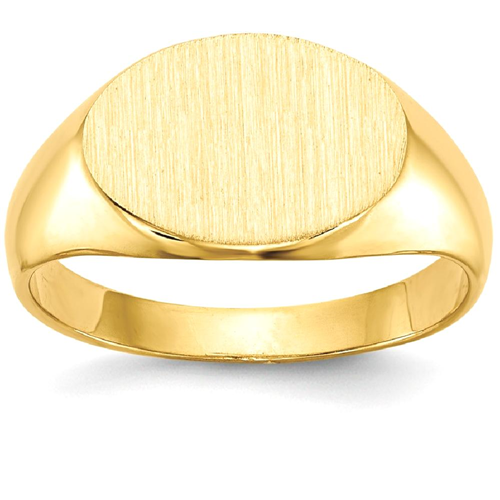 IceCarats 14k Yellow Gold Signet Band Ring Size 3.50