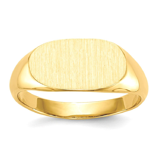 IceCarats 14k Yellow Gold Signet Band Ring Size 5.00