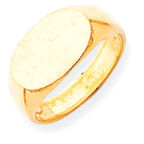 IceCarats 14k Yellow Gold Signet Band Ring Size 6.00