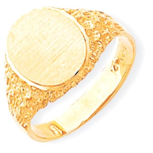 IceCarats 14k Yellow Gold Signet Band Ring Size 9.00 Men