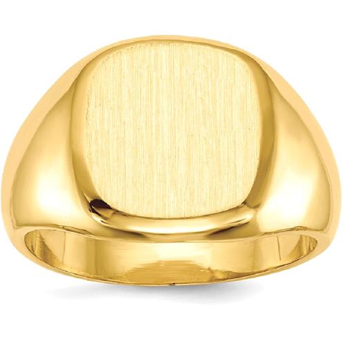Icecarats 14k Yellow Gold Mens Signet Band Ring Size 10 00 Men