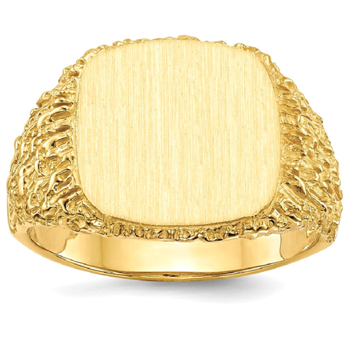IceCarats 14k Yellow Gold Mens Signet Band Ring Size 10.00 Men