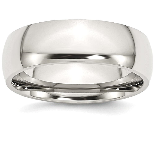 IceCarats Stainless Steel 7mm Wedding Ring Band Size 13.00 Classic Domed