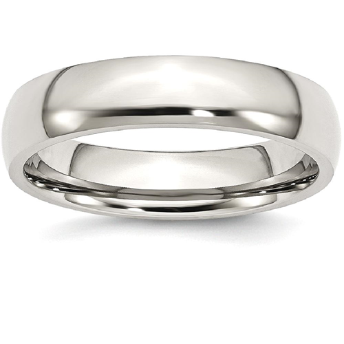 IceCarats Stainless Steel 5mm Wedding Ring Band Size 6.00 Classic Domed