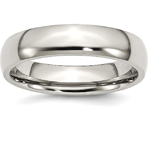 IceCarats Titanium 5mm Wedding Ring Band Size 16.00 Classic Domed