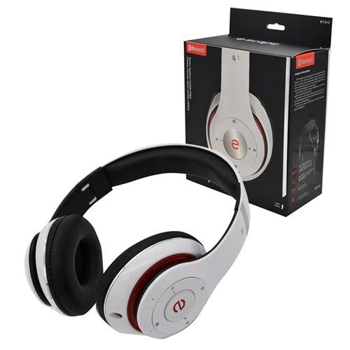 Escape Platinum BT-S15 Bluetooth Headset With Microphone And FM Radio White : Bluetooth Headsets