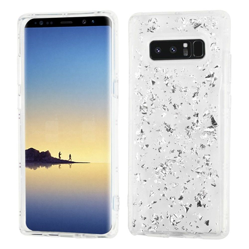 Insten Flakes TPU Case For Samsung Galaxy Note 8 - Silver