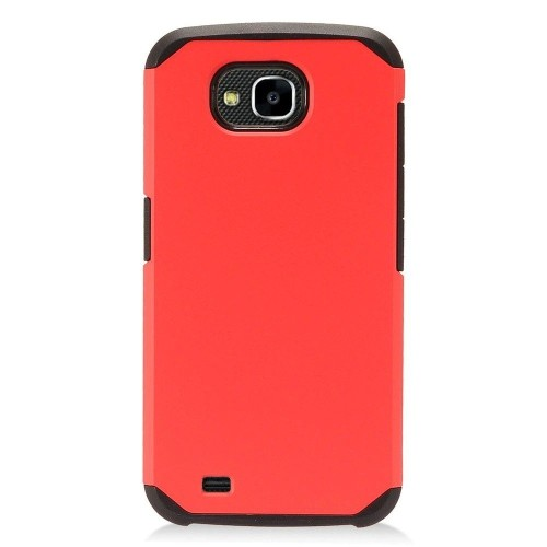 Insten Hard Dual Layer Plastic TPU Case For LG X Venture - Red/Black