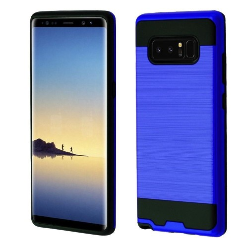 Insten Hard Dual Layer Brushed TPU Case For Samsung Galaxy Note 8 - Blue/Black
