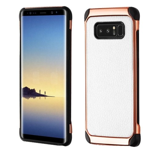 Insten Astronoot Hard Hybrid TPU Cover Case For Samsung Galaxy Note 8 - White/Black