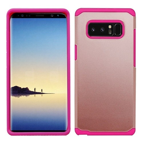 Insten Astronoot Hard Plastic TPU Cover Case For Samsung Galaxy Note 8, Rose Gold/Hot Pink
