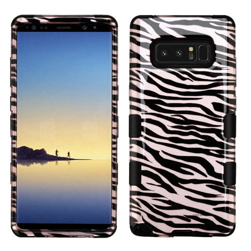 Insten Tuff Zebra Hard Hybrid Plastic TPU Cover Case For Samsung Galaxy Note 8 - Black/White