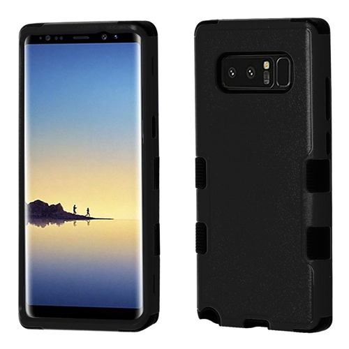 Insten Tuff Hard Hybrid Plastic TPU Cover Case For Samsung Galaxy Note 8 - Black
