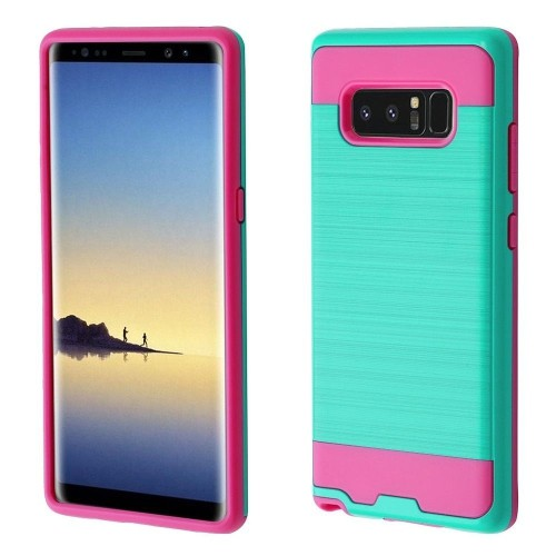 Insten Fitted Soft Shell Case for Samsung Galaxy Note 8 - Hot Pink;Teal