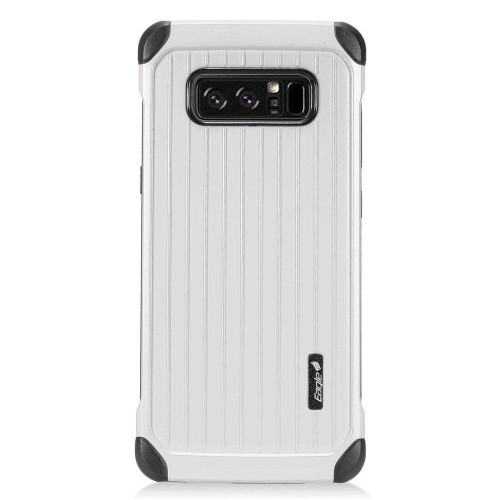 Insten Carry On Hard Hybrid Plastic Cover Case For Samsung Galaxy Note 8 - Silver/Black
