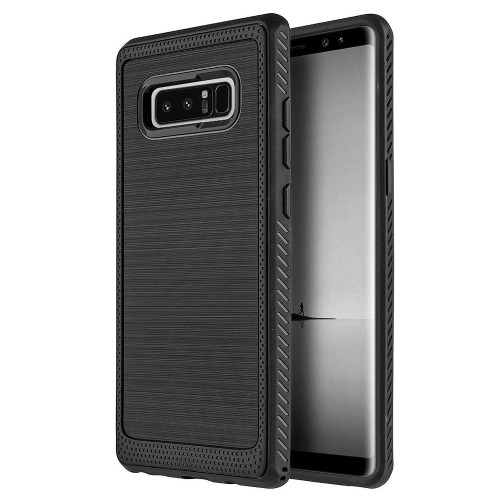 Insten Hard Dual Layer Brushed TPU Cover Case For Samsung Galaxy Note 8 - Black