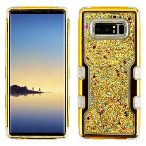 Insten Sparkling QuickSand Hard Hybrid Plastic TPU Case For Samsung Galaxy Note 8 - Gold