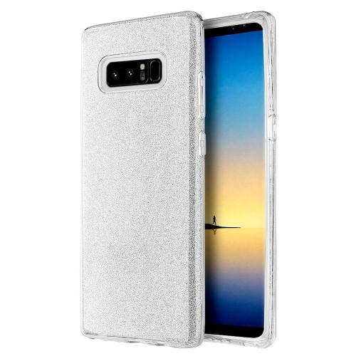 Insten Starry Dazzle Hard Plastic TPU Case For Samsung Galaxy Note 8 - Silver