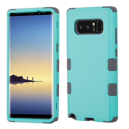 Insten Tuff Hard Dual Layer Plastic TPU Case For Samsung Galaxy Note 8 - Teal/Gray