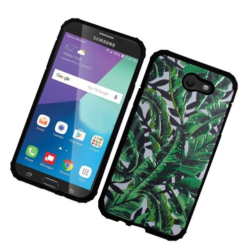 Insten Leaves Hard Hybrid Case For Samsung Galaxy Halo/J7 (2017)/J7 Prime/J7 Sky Pro/J7 V, Green