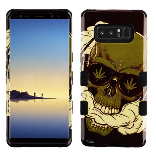 Insten Tuff Weed Skull Hard Dual Layer Plastic TPU Cover Case For Samsung Galaxy Note 8, Multi-Color