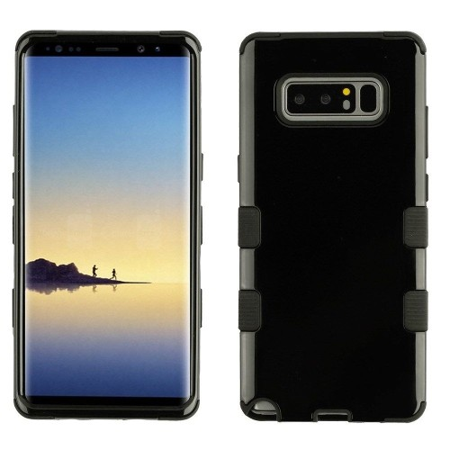 Insten Tuff Hard Dual Layer Plastic TPU Cover Case For Samsung Galaxy Note 8 - Black
