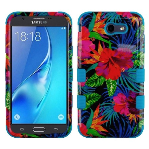 Insten Hibiscus Hard Case For Samsung Galaxy Halo/J7 (2017)/J7 Perx/J7 Prime/J7 V, Multi-Color