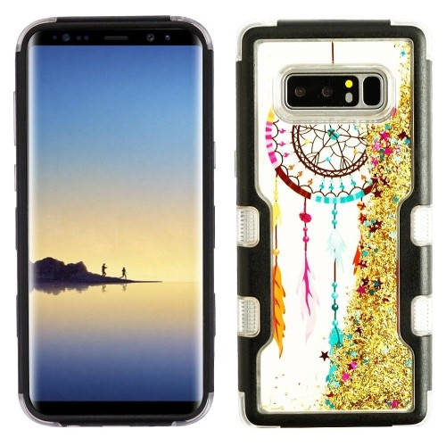 Insten Sparkling QuickSand Dreamcatcher Hard Hybrid TPU Case For Samsung Galaxy Note 8, Multi-Color