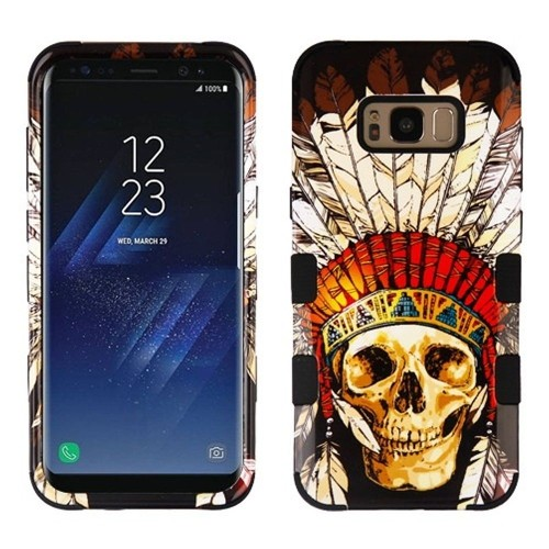 Insten Dead Chief Skull Hard Plastic Silicone Cover Case For Samsung Galaxy S8 Plus, Multi-Color