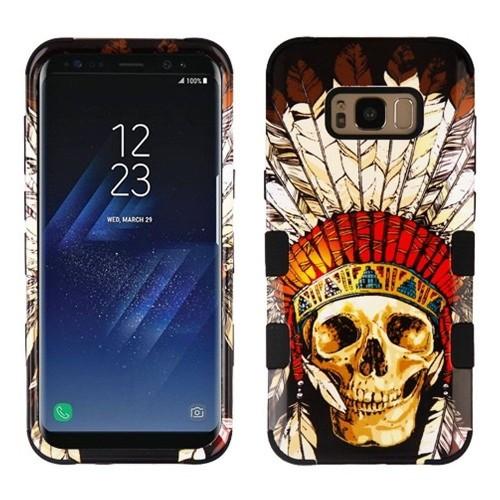 Insten Dead Chief Skull Hard Plastic Silicone Cover Case For Samsung Galaxy S8 Plus, Multi-Color