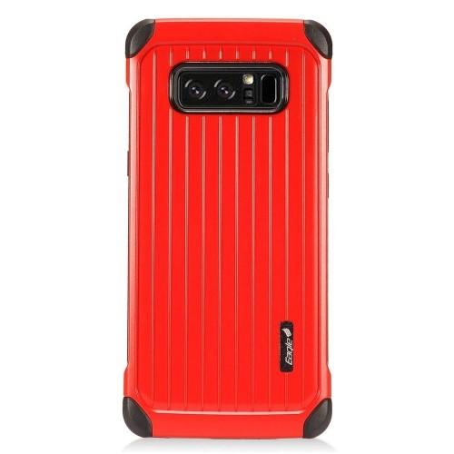 Insten Fitted Hard Shell Case for Samsung Galaxy Note 8 - Black;Red