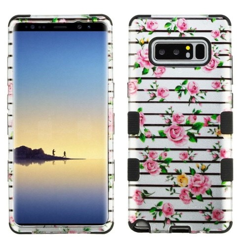 Insten Tuff Fresh Roses Hard Hybrid Plastic TPU Case For Samsung Galaxy Note 8 - Multi-Color