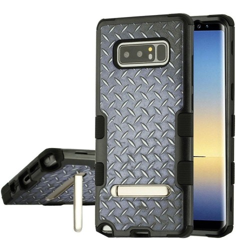 Insten Tuff Tread Hard Hybrid Plastic TPU Case For Samsung Galaxy Note 8 - Black
