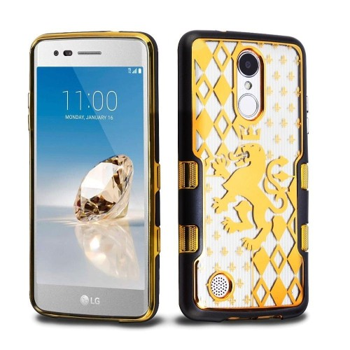 Insten Lion Crest Hard Case For LG Aristo/Fortune/K4 (2017)/K8 (2017)/LV3/Phoenix 3/Rebel 2, Gold