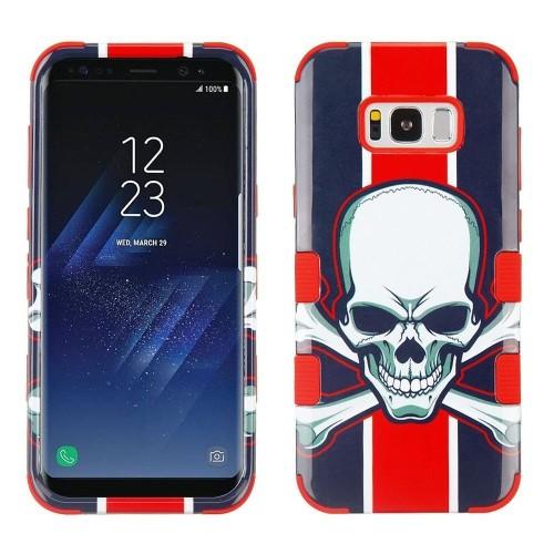 Insten Tuff Union Jack Skull Hard Hybrid Plastic TPU Case For Samsung Galaxy S8 Plus - Multi-Color