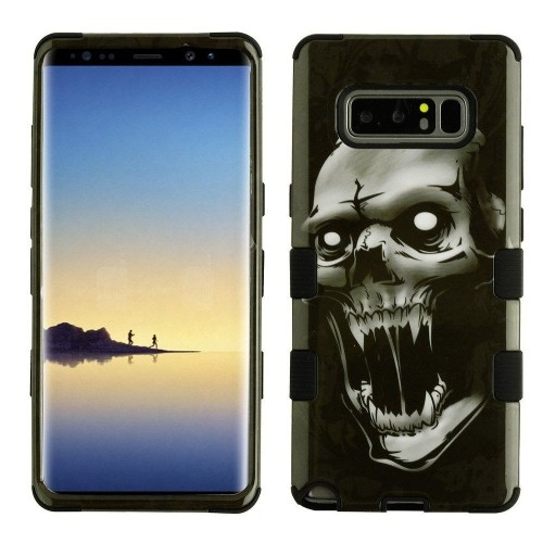 Insten Tuff Vampire Hard Hybrid Plastic TPU Cover Case For Samsung Galaxy Note 8 - Black