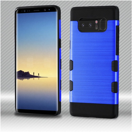 Insten Tuff Hard Dual Layer Brushed TPU Cover Case For Samsung Galaxy Note 8 - Blue/Black