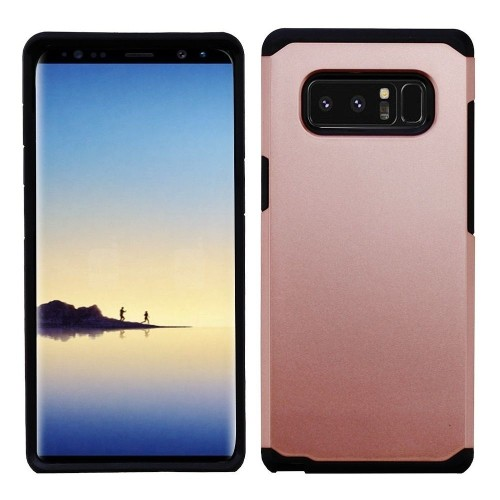 Insten Astronoot Hard Dual Layer Plastic TPU Cover Case For Samsung Galaxy Note 8 - Rose Gold/Black