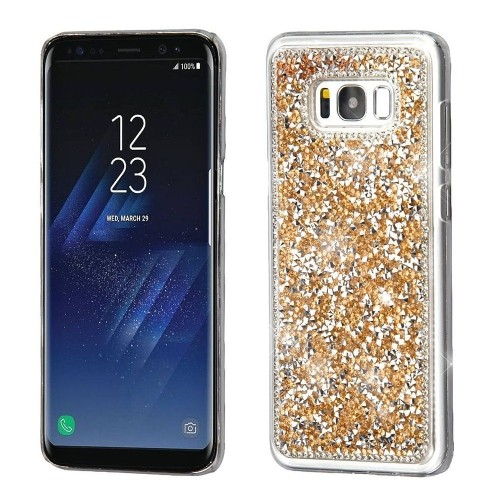 Insten Hard Crystal Cover Case w/Diamond For Samsung Galaxy S8 - Rose Gold
