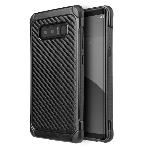 Insten Carbon Fiber Hard Hybrid Plastic TPU Case For Samsung Galaxy Note 8 - Black