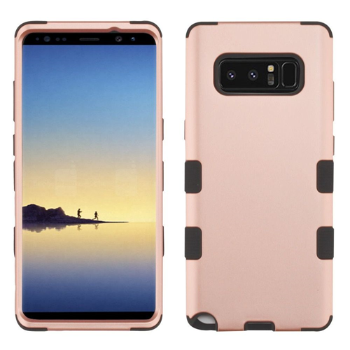 Insten Tuff Hard Hybrid Plastic TPU Cover Case For Samsung Galaxy Note 8 - Rose Gold/Black