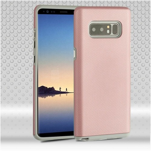Insten Fusion Hard Dual Layer Plastic TPU Case For Samsung Galaxy Note 8 - Rose Gold/Gray
